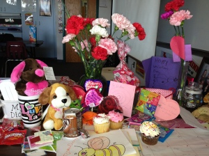 How can you not feel loved when your desk looks like this at the end of the day on Valentine's Day?!!! :)
