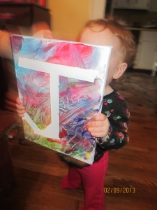 All done!  She's so proud of her masterpiece