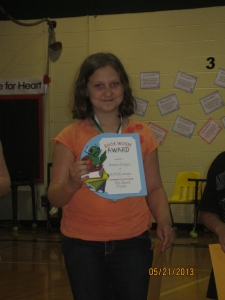 The bookworm award!