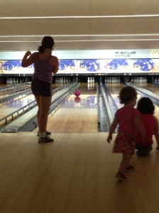 The girls loved bowling!
