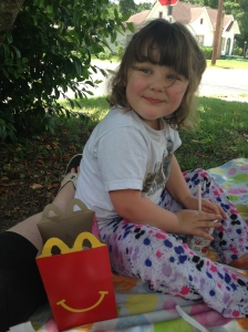 Happy meals under the shade tree