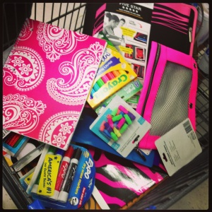 We school supply shopped!