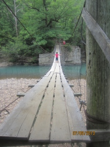 the path leading up to the best swimming hole in Arkansas!