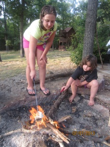 In order to make smores you have to  your fire hot!