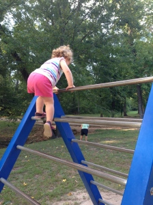 "of course as soon as she would reach the top I would have to ""rescue"" her."