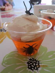 Jello + bugs + cool whip = awesome!