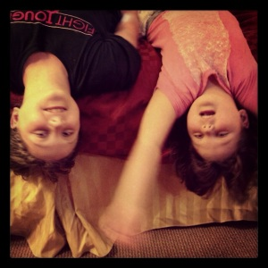 Danielle and Veronica upside down