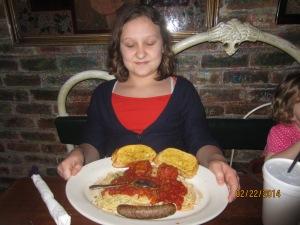 Veronica had a happy plate!