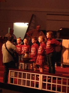 Nothing makes this momma more proud then seeing my kids take part in church activities.