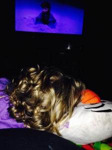 We watched it again! There's nothing like snuggling an Olaf while watching Olaf!
