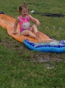 First time on a slip and slide
