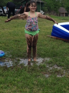 who needs to go to the spa for a mud bath?