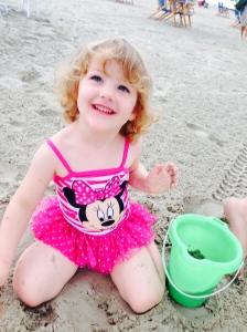 Jillian loves the sand!