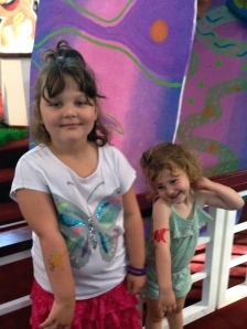 The girls loved playing with their temporary tattoos.