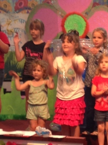 singing at VBS