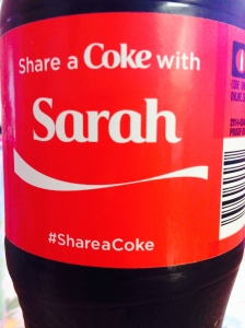 Sharing a coke, because we were told to. :)