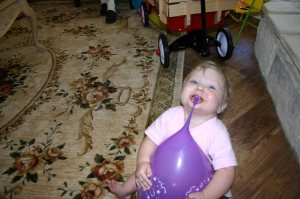 At her first birthday party